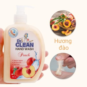 Nước rửa tay sạch khuẩn Dr. Clean hương đào chai 500ml