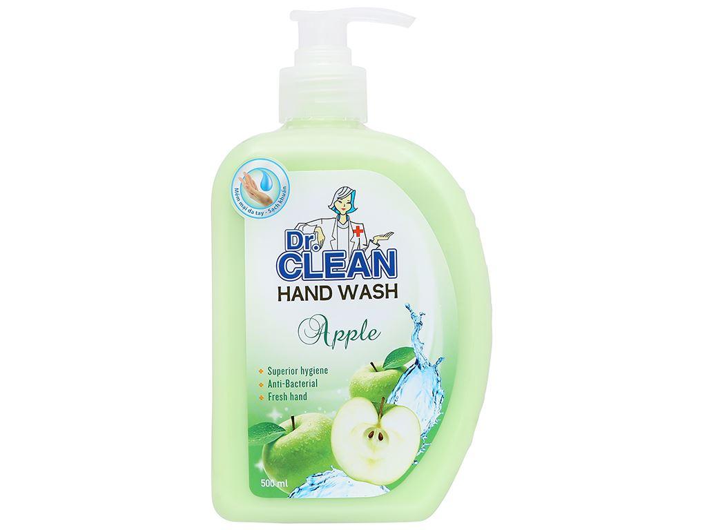 Nước rửa tay sạch khuẩn Dr. Clean hương táo chai 500ml 5