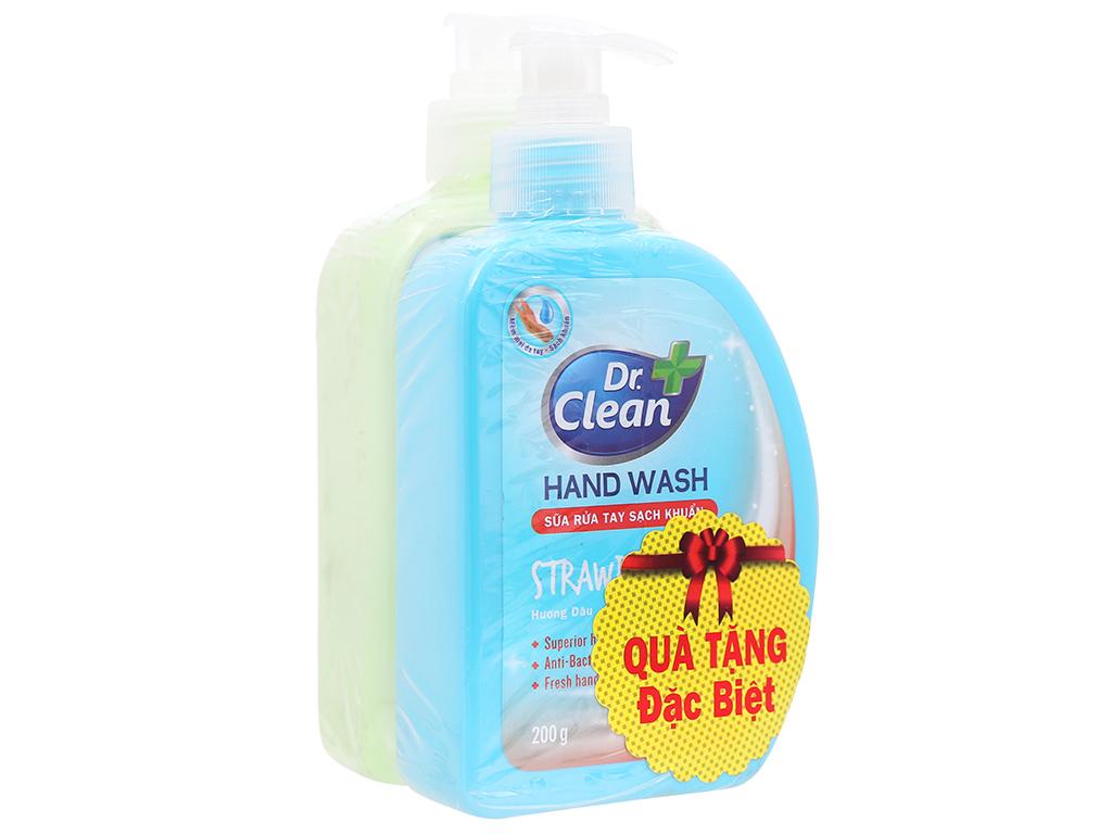 Nước rửa tay sạch khuẩn Dr. Clean hương táo chai 500ml 1