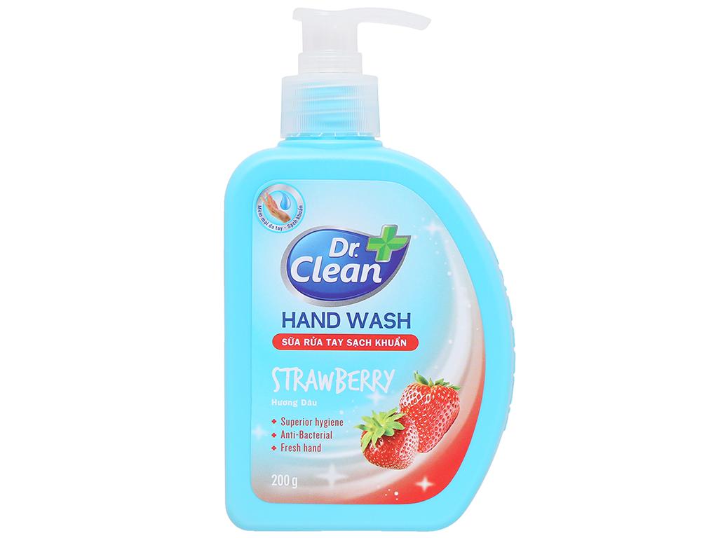 Nước rửa tay sạch khuẩn Dr. Clean hương táo chai 500ml 9