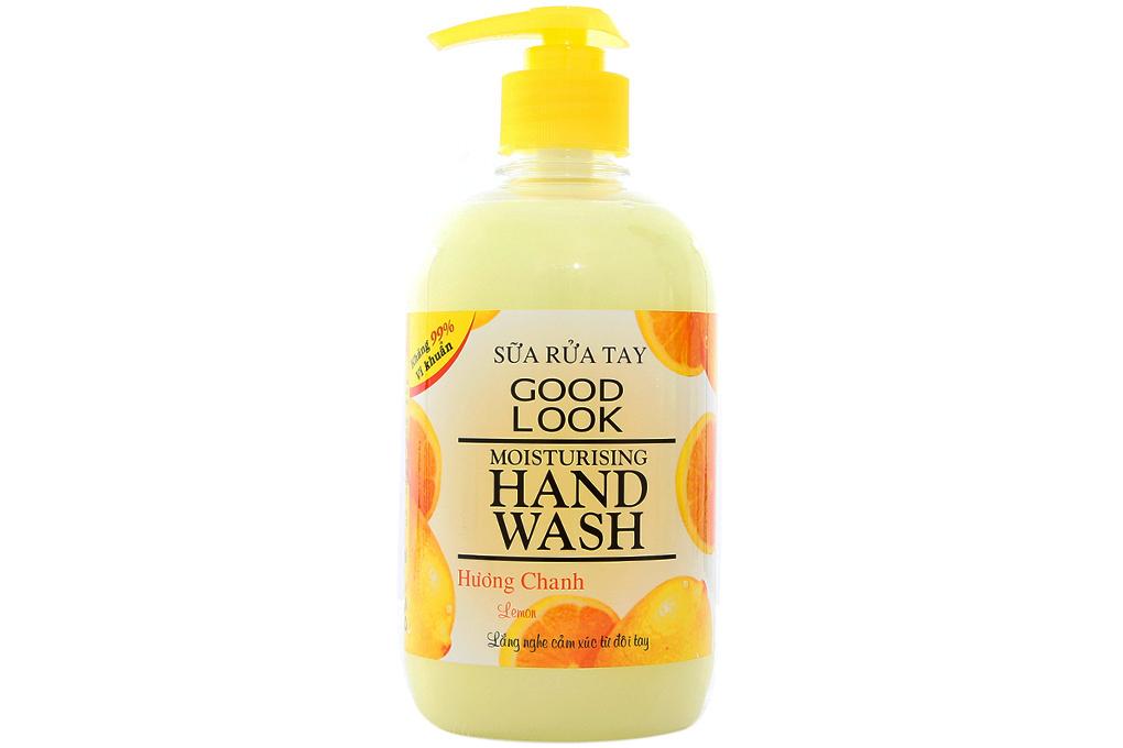 Sữa rửa tay Goodlook hương chanh chai 500ml 2