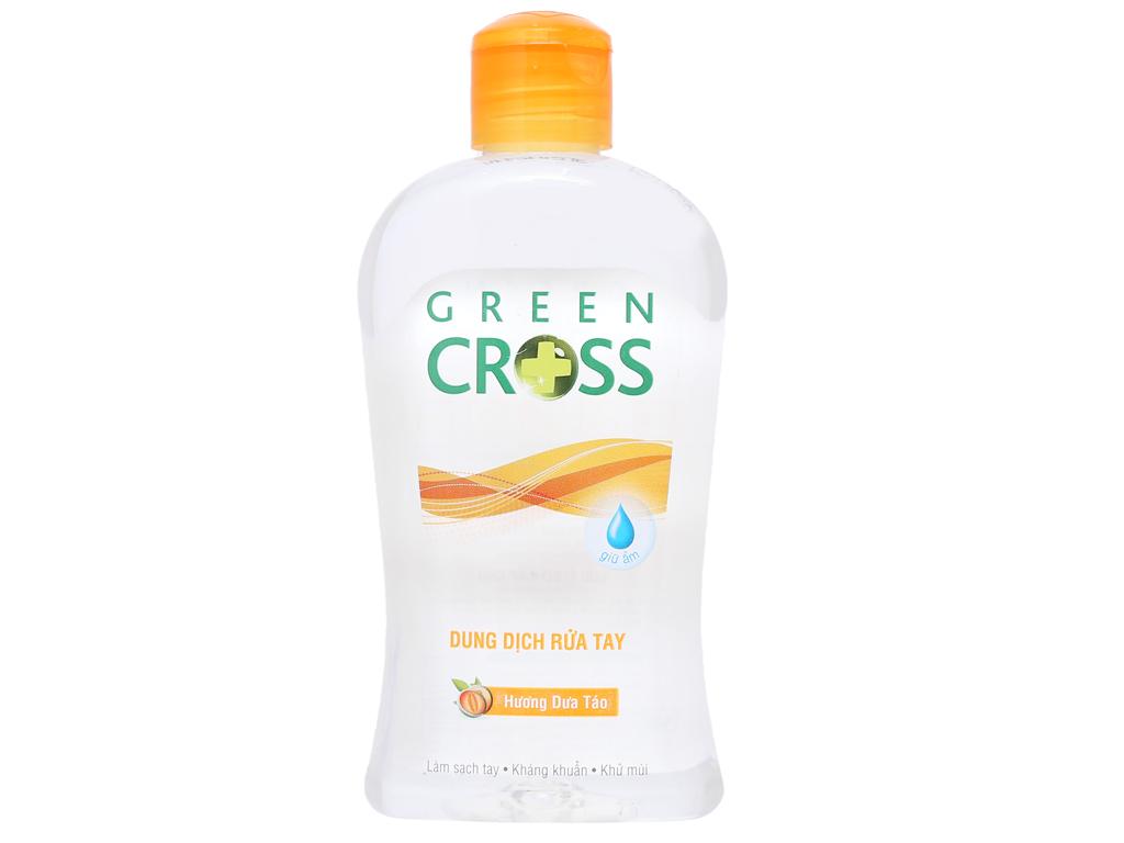 Dung dịch rửa tay khô Green Cross hương dưa táo chai 250ml 2