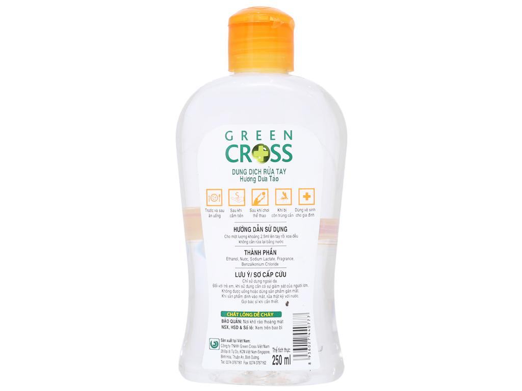 Dung dịch rửa tay khô Green Cross hương dưa táo chai 250ml 3