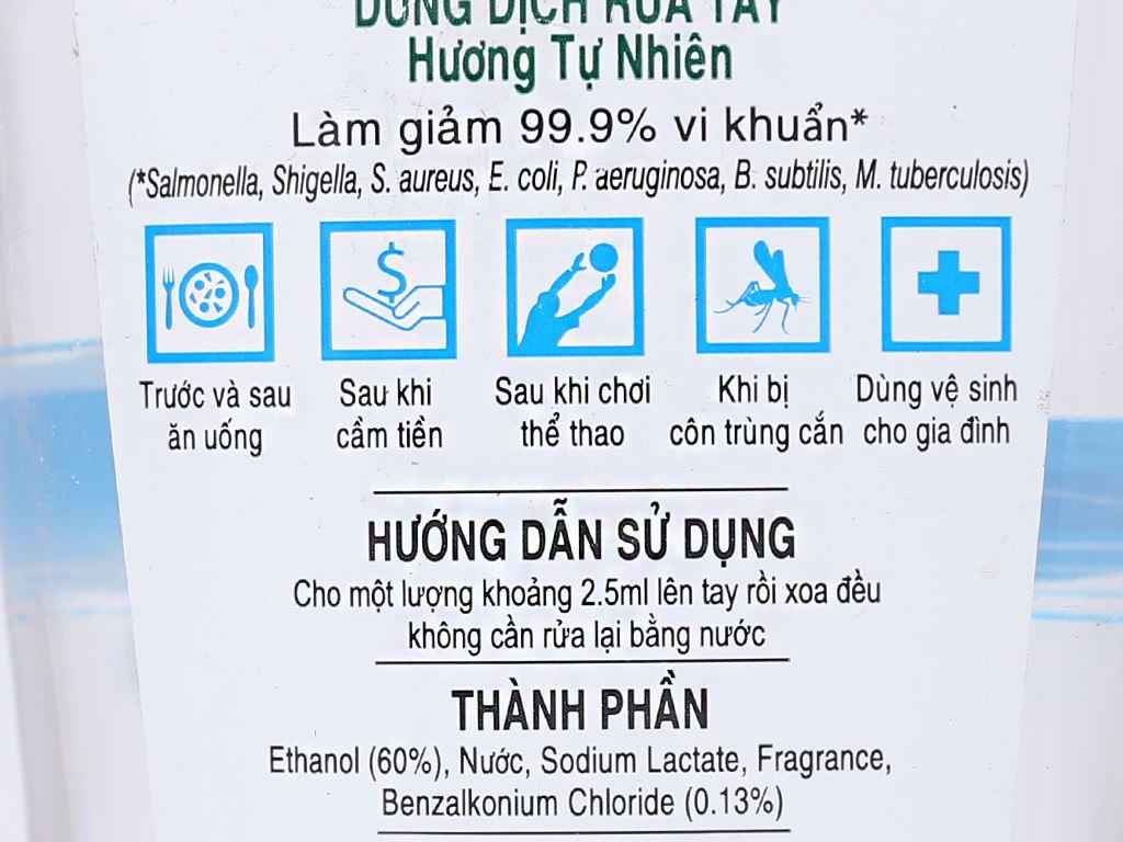 Dung dịch rửa tay khô Green Cross hương tự nhiên chai 250ml 4
