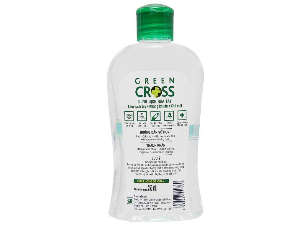 Dung dịch rửa tay khô Green Cross hương trà xanh chai 250ml 2