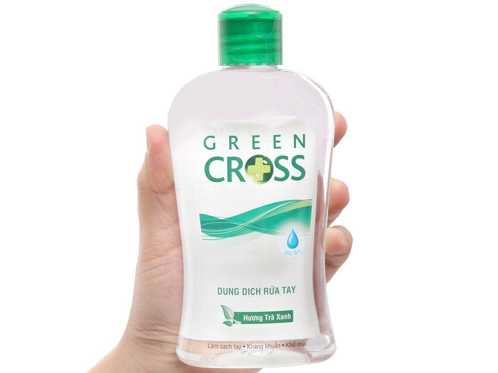 Dung dịch rửa tay khô Green Cross hương trà xanh chai 250ml 3