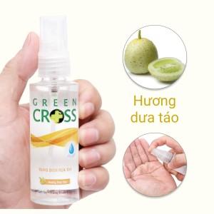 Dung dịch rửa tay khô Green Cross hương dưa táo chai 70ml