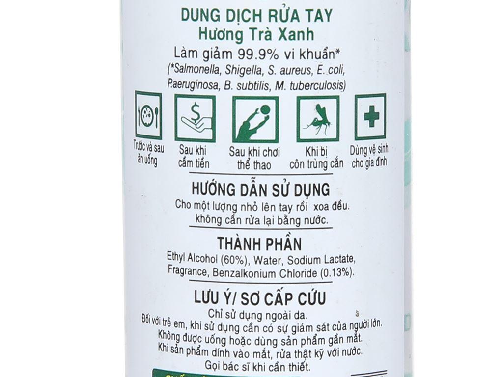 Dung dịch rửa tay khô Green Cross hương trà xanh chai 70ml 4