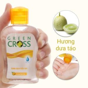 Dung dịch rửa tay khô Green Cross hương dưa táo chai 100ml