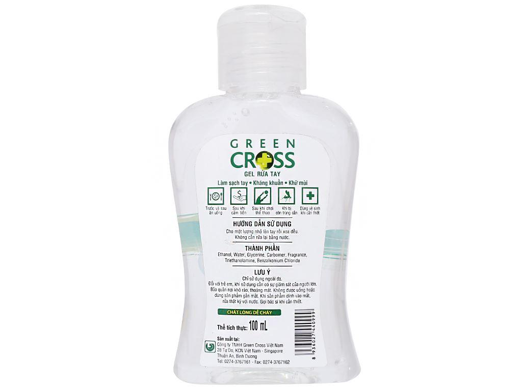 Gel rửa tay khô Green Cross hương trà xanh chai 100ml 3