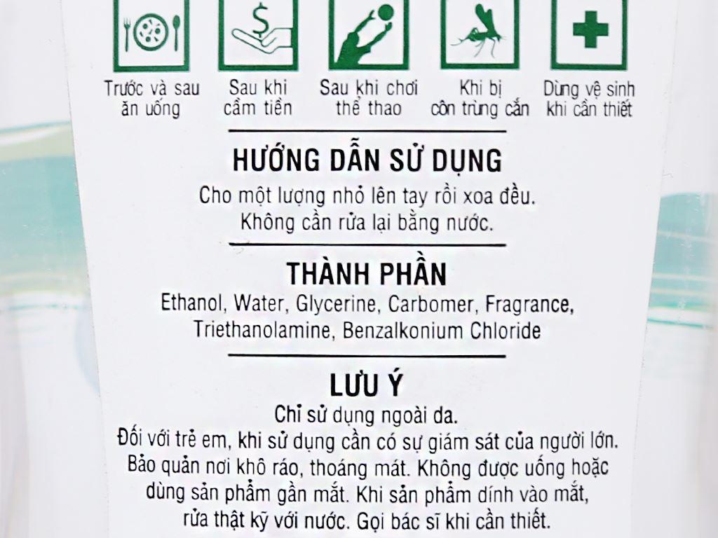 Gel rửa tay khô Green Cross hương trà xanh chai 100ml 4