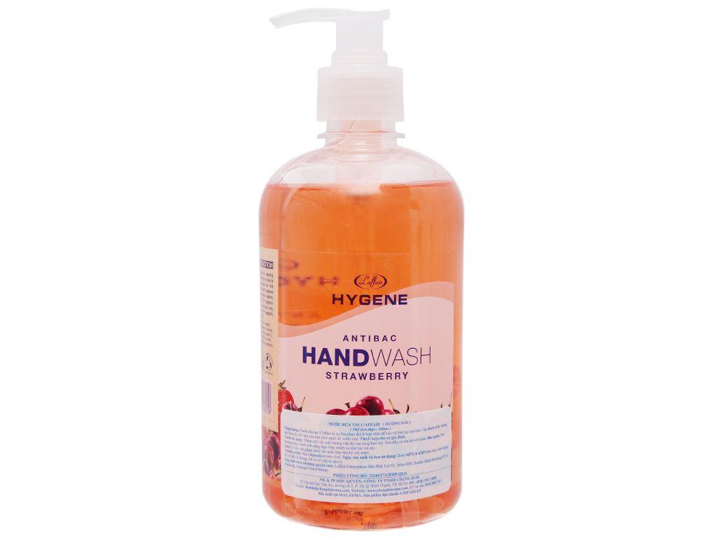 Nước rửa tay L'Affair dưỡng da hương dâu chai 500ml 2
