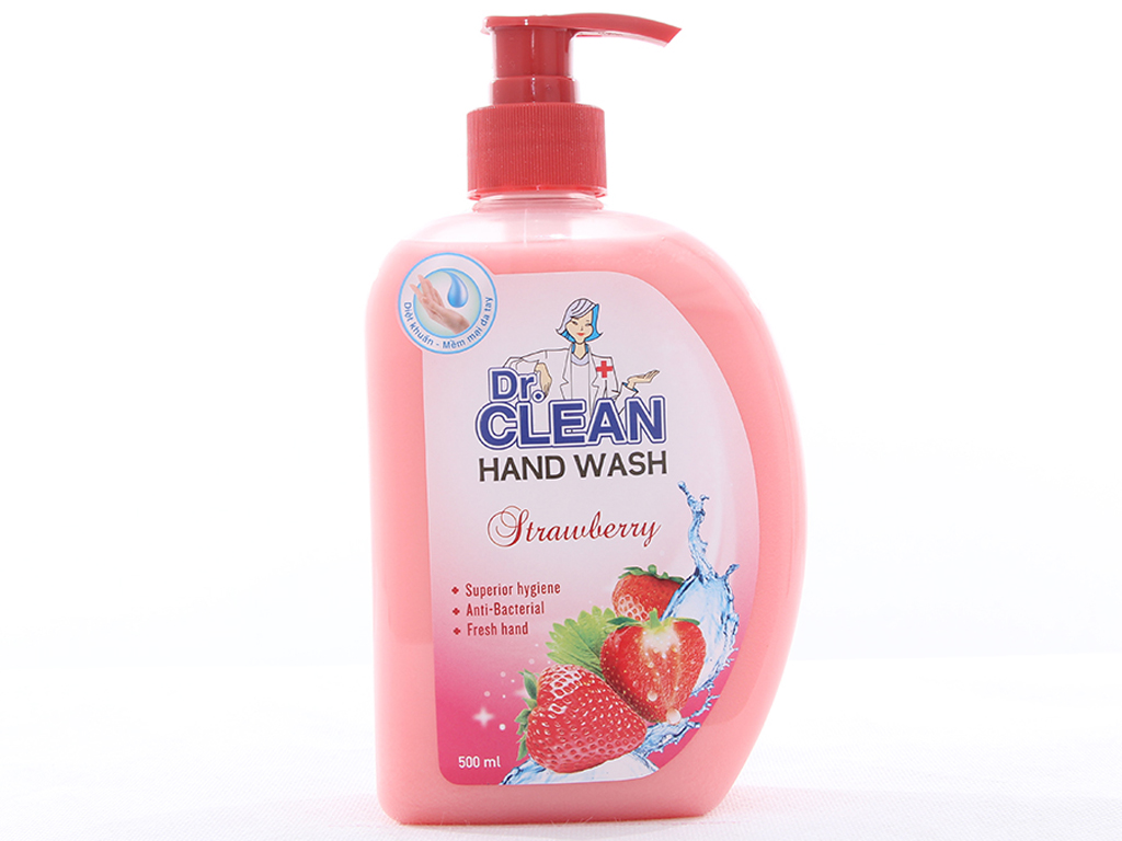 Nước rửa tay Dr. Clean hương Strawberry chai 500ml 1