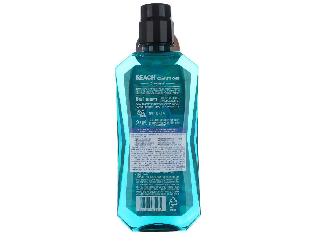 Nước súc miệng REACH Original chăm sóc toàn diện 760ml 3