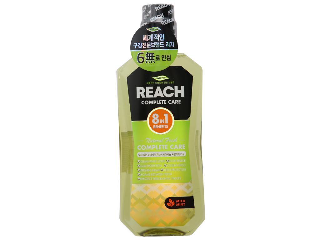 Nước súc miệng REACH Natural Fresh Complete Care hơi thở thơm mát 760ml 2