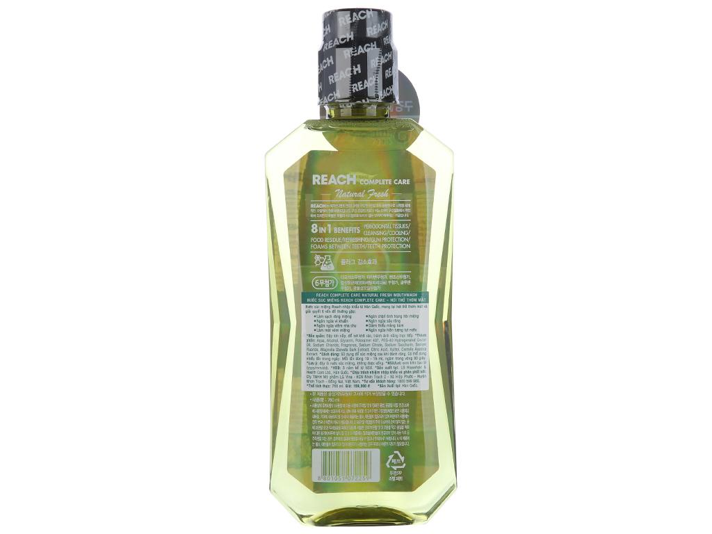 Nước súc miệng REACH Natural Fresh Complete Care hơi thở thơm mát 760ml 3