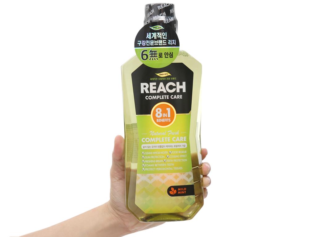 Nước súc miệng REACH Natural Fresh Complete Care hơi thở thơm mát 760ml 4