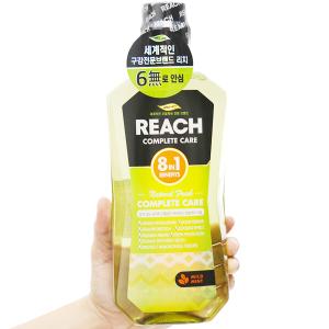 Nước súc miệng REACH Natural Fresh Complete Care hơi thở thơm mát 760ml