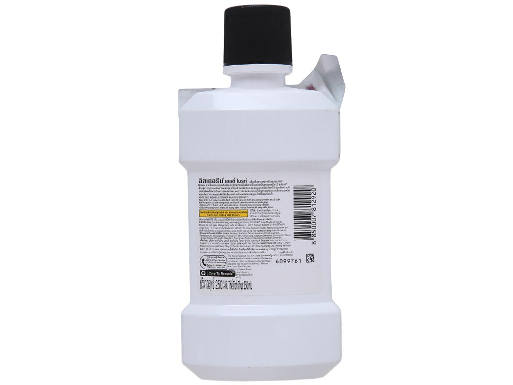 Nước súc miệng Listerine Chanh và muối 250ml 3