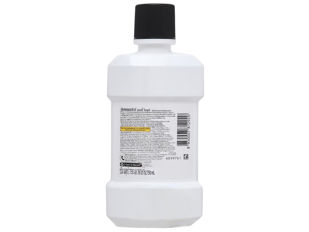 Nước súc miệng Listerine chanh và muối 750ml 3
