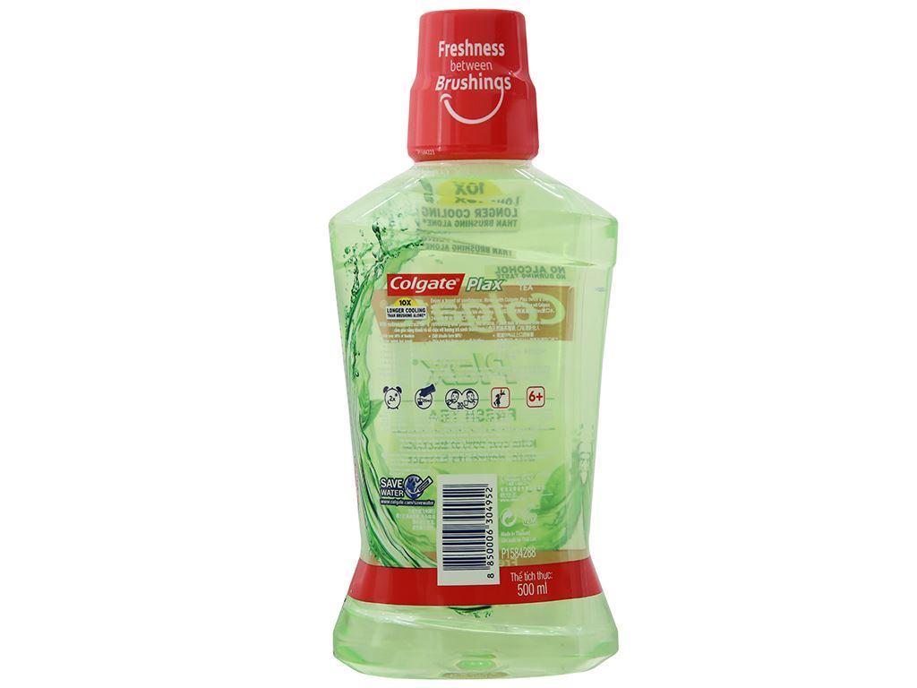 Nước súc miệng Colgate Plax Fresh Tea 500ml 3