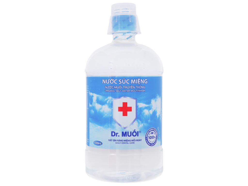 Nước súc miệng truyền thống Dr.Muối 1 lít 2