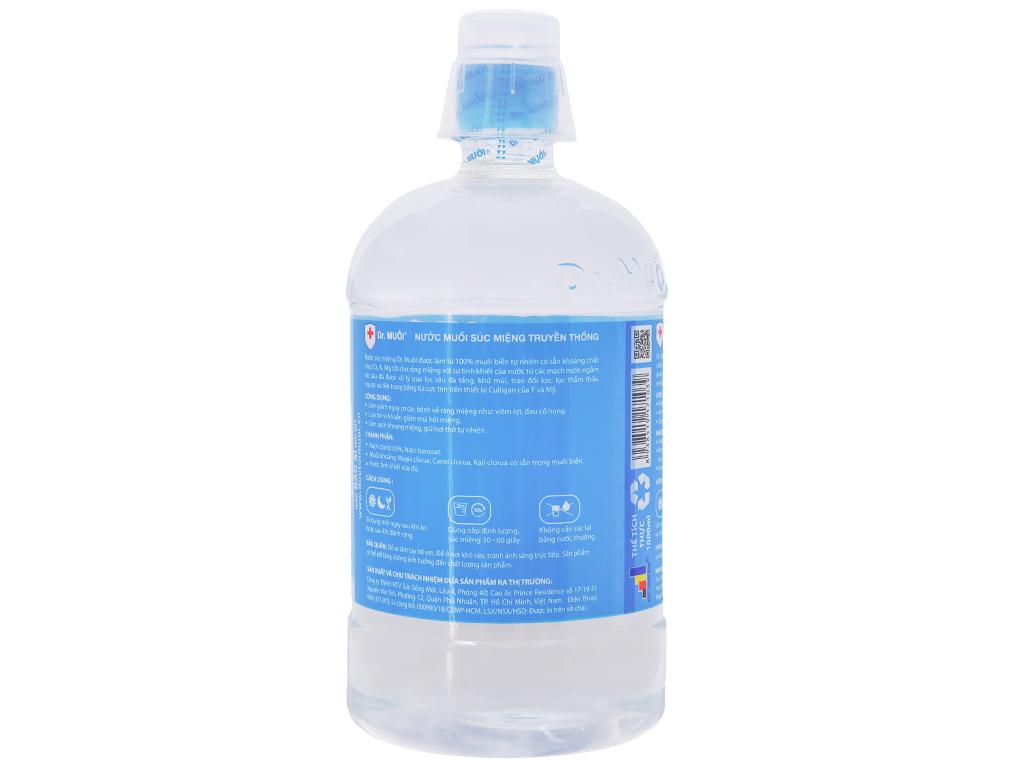 Nước súc miệng truyền thống Dr.Muối 1 lít 3