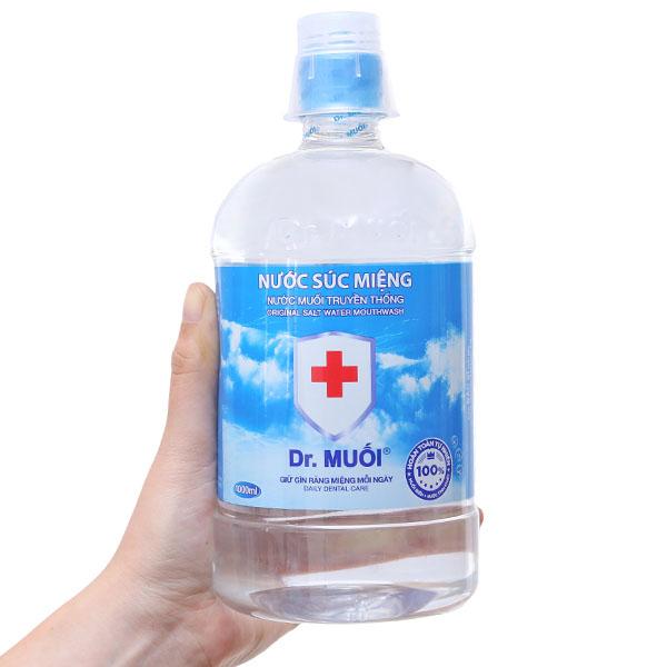 Nước súc miệng Dr.Muối muối biển 1l