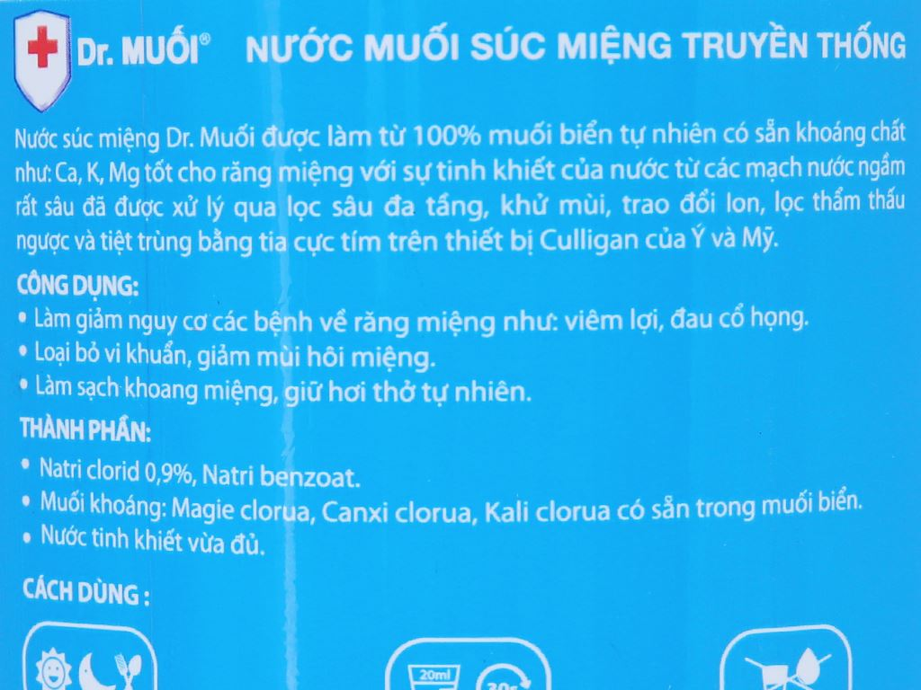 Nước súc miệng truyền thống Dr.Muối 1 lít 5
