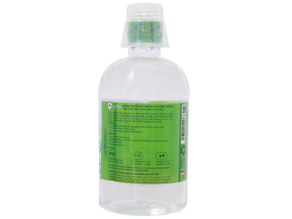 Nước súc miệng truyền thống Dr.Muối tinh chất hương vỏ chanh 500ml 3