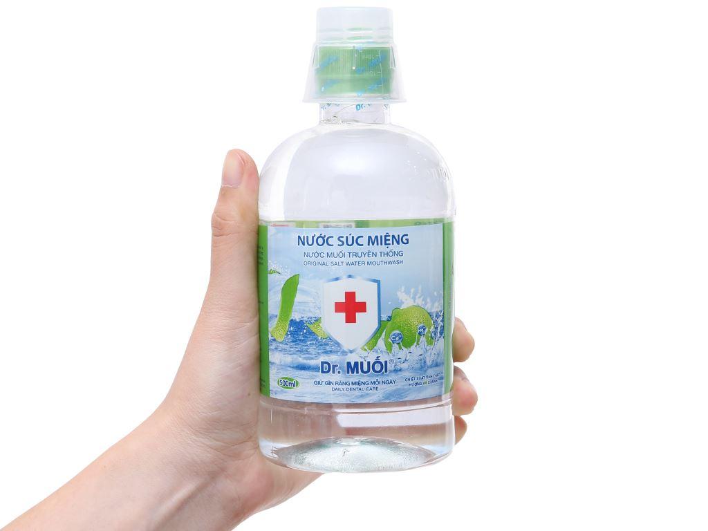 Nước súc miệng truyền thống Dr.Muối tinh chất hương vỏ chanh 500ml 4
