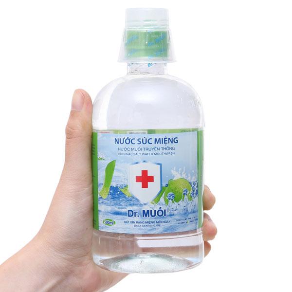 Nước súc miệng Dr.Muối hương vỏ chanh 500ml