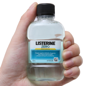 Nước súc miệng Listerine vị không cay 80ml