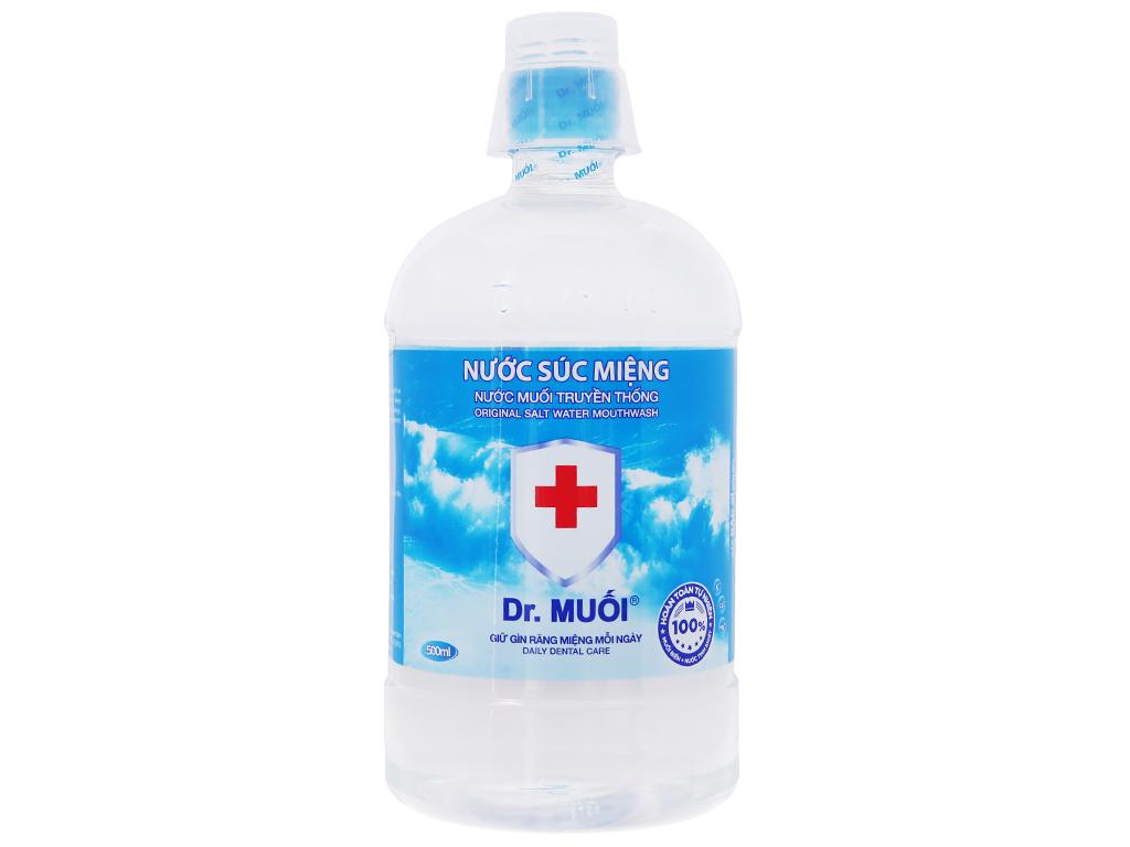 Nước súc miệng Dr. Muối Truyền Thống 500ml 2