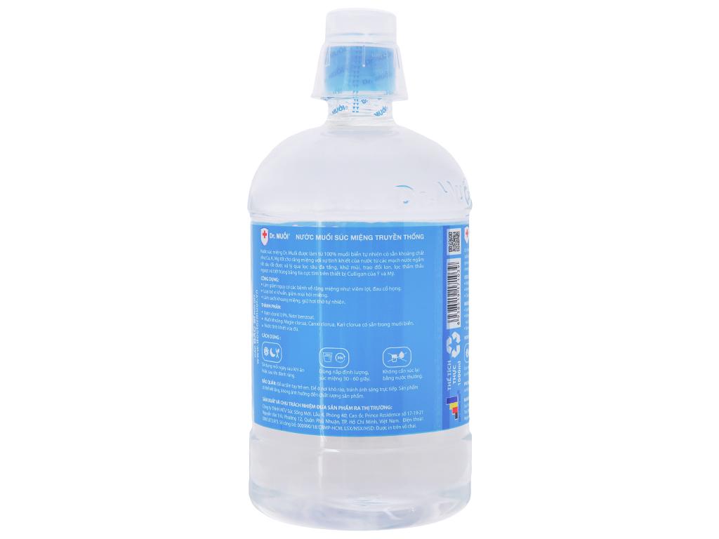 Nước súc miệng Dr. Muối Truyền Thống 500ml 3