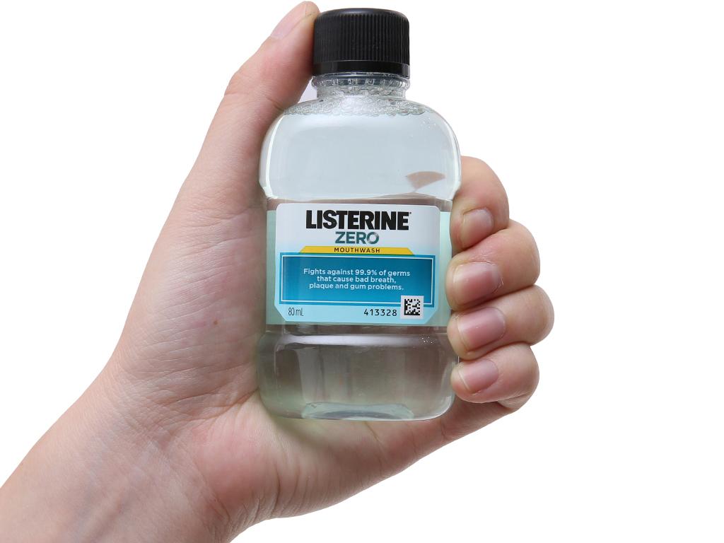Nước súc miệng Listerine không cay 80ml 4