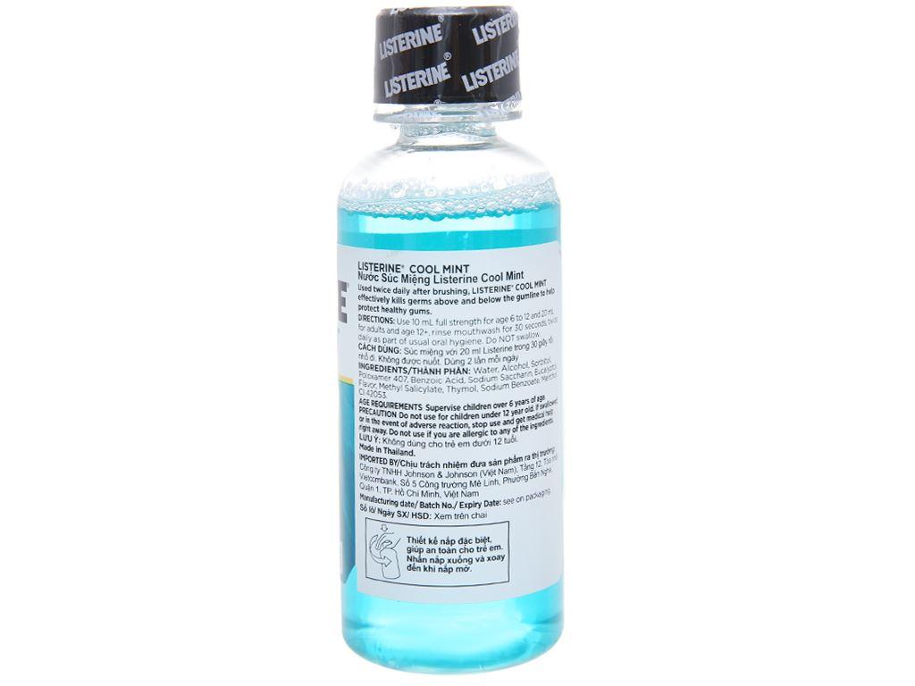 Nước súc miệng Listerine Cool Mint 100ml 2