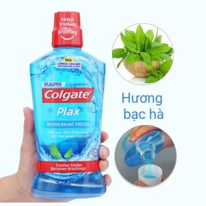 Nước súc miệng Colgate Plax Peppermint Fresh 750ml