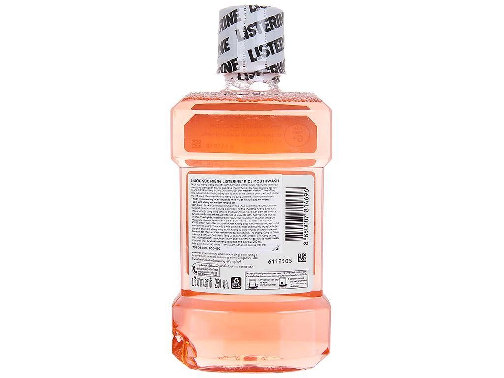 Nước súc miệng Listerine Kids Mouthwash hương dâu tây 250ml 2