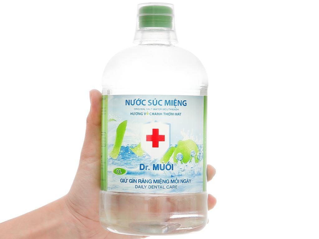 Nước súc miệng Dr.Muối hương vỏ chanh 1000ml 4