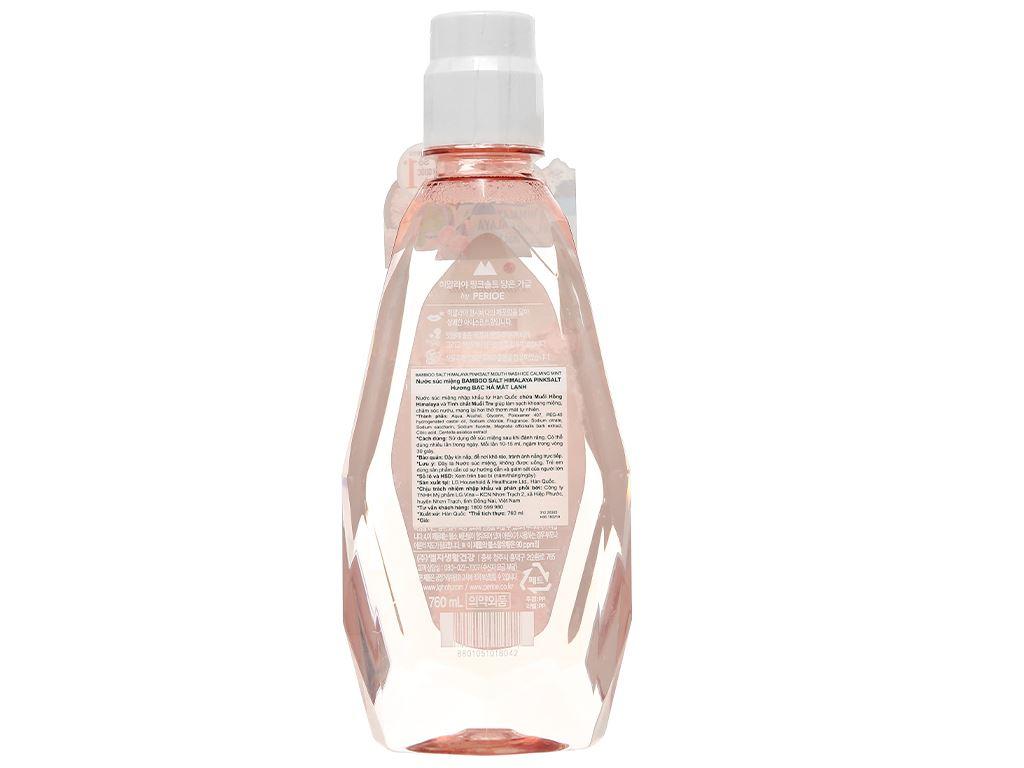 Nước súc miệng Bamboo Salt Bamboo Himalaya pink salt ice calming mint 760ml 2