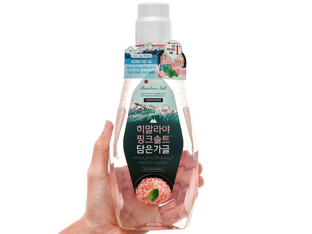 Nước súc miệng Bamboo Salt Bamboo Himalaya pink salt ice calming mint 760ml 4