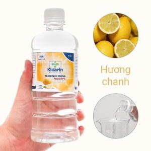 Nước muối súc miệng Klearin Nacl 0.9% hương chanh 550ml
