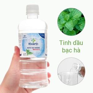 Nước muối súc miệng Klearin Nacl 0.9% bạc hà 550ml