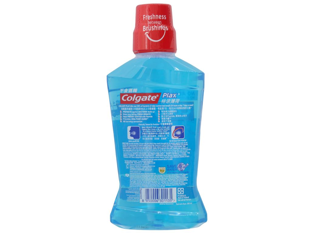 Nước súc miệng Colgate Plax Peppermint Fresh 500ml 3