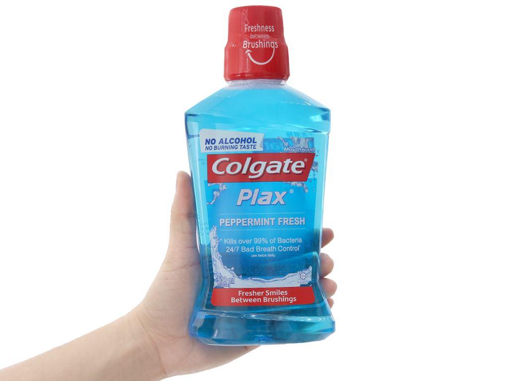 Nước súc miệng Colgate Plax Peppermint Fresh 500ml 4