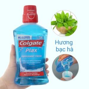 Nước súc miệng Colgate Plax Peppermint Fresh 500ml