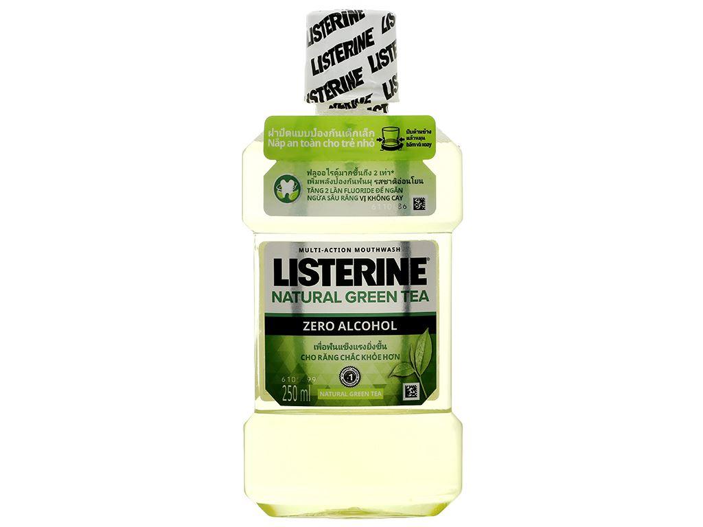 Nước súc miệng ngừa sâu răng Listerine trà xanh 250ml 1