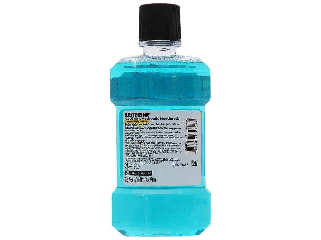 Nước súc miệng Listerine Cool Mint 250ml 3