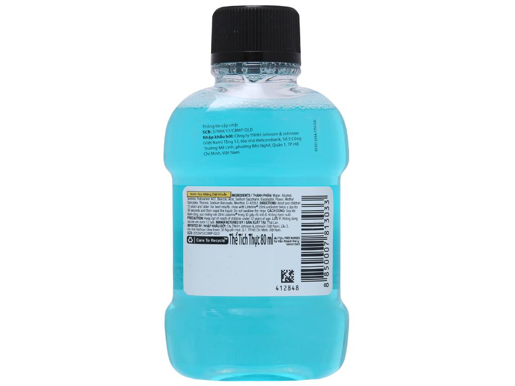 Nước súc miệng Listerine Cool Mint Cool Mint 80ml 3